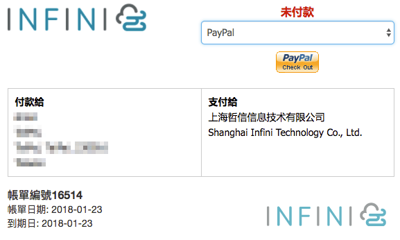 support paypal invoice